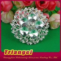Wholesale Top Quality Silver Flower Alloy Glass Crystal Rhinestone Brooch Bouquet For Wedding Bridal Decoration