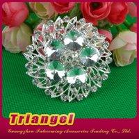 Wholesale Top Quality Silver Flower Alloy Glass Crystal Rhinestone Brooch Bouquet For Wedding Bridal Decoration