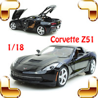 big door design - New Arrival Gift Corvette Z51 Large Racing Model Car Roadster Design Metal Vehicle Toys Openable Door Big Fan Collection
