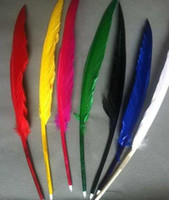 ballpoint quill pen - DHL Popular goose quill Ballpoint pen for girls DIY Pen for toys