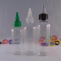 Cheap 60ml Transparent high quality Twist Off Caps New Designe Pen Shape Unicorn Bottle Pet Bottles E juice Plastic Dropper Bottles