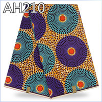 Wholesale Dutch wax fabric hollandais Guaranteed African dutch cotton wax fabric ankara wax fabric for garment AH210
