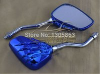 Wholesale new Universal Claw Chrome Motorcycle Mirror Motocross mirror motorbike rearview No scratch colors