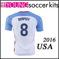 Wholesale New USA National team Soccer Jersey Home Mens Football shirt kits DEMPSEY ALTIDORE