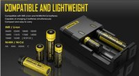 Cheap New Genuine Nitecore I2 Universal Charger for 16340 18650 14500 26650 Battery E Cigarette 2 in 1 Muliti Function Intellicharger Rechargeable