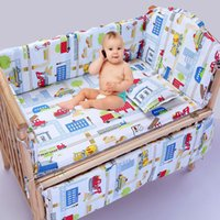 Wholesale baby bedding set cotton curtain crib bumper baby cot sets baby bed bumpers