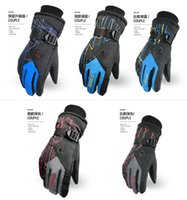 Wholesale 1 pair Ski Gloves For Men Women s Winter Gloves Non slip Wear Resisting Snowboard Motorcycle Bicycle Riding Windproof Waterproof Snow Gloves