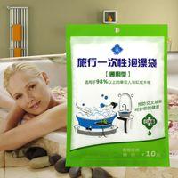 Wholesale Travel bags disposable bath bathing bag bag wooden bathtub cover thick SPA plastic film bag bath tub