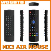 Wholesale X8 MX3 Air Mouse Wireless Keyboard GHz Remote Controller For MX3 MXQ S805 S905 M8S Android TV BOX U1 Keyboard