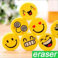 accessory design schools - Cute Smiling Face Eraser Cartoon Emoji Eraser Rubber for Pencil Students Kids Funny Cute Stationery Office Accessories School Supplies