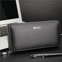animal cells functions - Baellerry Brand Business Men Long Wallets Genuine Leather Zipper Large Capacity Multi function Solid Color Men Purse Clutch Bag