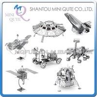 apollo statue - Mini Qute Piece Fun D outer space Mars Apollo Lunar Module Lander Satellite Hubble Telescope UFO Metal Puzzle educational toy