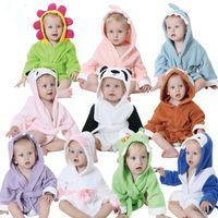 Wholesale Cute Animal Cartoon Baby Bathrobe Infant Children Hooded Towel Wrap Cotton Quality Toddler Spa Bath Towel More Styles Option JY0248
