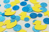 baby bath table - Rubber Ducky Bubble Bath Glitter Confetti Baby Showers Table confetti Party Decorations