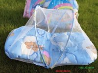 Wholesale Hot Selling portable folding infants nets the mosquito net Baby mosquito net With mat pillow baby bed nets