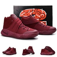 Wholesale With shoes Box Kyrie Irving II Team Red Red Velvet Men Sport Sneakers Trainers Shoes