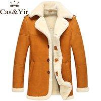 australian leather jackets - Fall Australian sheep fur jacket male sheep fur coat winter fur leather jacket