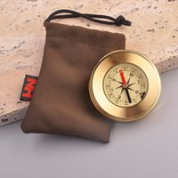 Wholesale hot Traditional Compass Copper Metal Shell Direction Guide Antique Camping Hiking Round