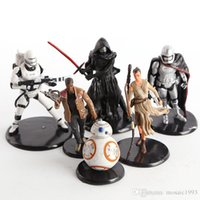 Wholesale 6 styles per set Star Wars Darth Vader White Knight BB Finn Kylo Ren joint movable Decoration Car ornament