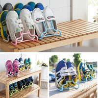 Wholesale Set Home Space saving Organizer Practical Hanging Shoes Rack Hot Plastic Removable Shoe Holder Stand