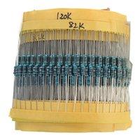 Alta calidad de la llegada de la venta caliente del precio bajo de las PC 1460 del metal Resistor Kit paquete de mezcla para películas Surtido 1 / 4W 1M 1R a 73 Valores