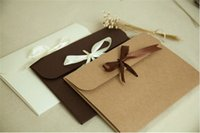 Wholesale cm bow Kraft paper pocket bag Kerchief Handkerchief Silk scarf packing boxes card gift Envelope box