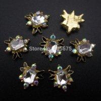 50pcs beauty supply charmed - 10pcs gold alloy Glitter charm nails art rhinestones strass d nail beauty supplies YNS39 art