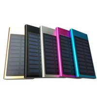 Wholesale External mAh Solar Panel Super Slim Power Bank Battery waterproof shockproof Dustproof Portable Powerbank for Mobile Phone Laptop Camera