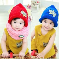 angels knit hat - Korean boy and girl baby angel wings triangular spire star hat children autumn and winter wool knitted hat hedging beanies