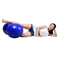 Wholesale New PVC Peanut Shape Bosu Ball Fitness Yoga Exercise Workout Ball Therapy Pilates Yoga Fitness