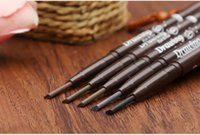 automatic eyebrow pencil - 2 IN Automatic Makeup Eyebrow Waterproof Permanent Eyebrow Pencil Cosmetics Brow Eye Liner Tools Color