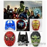 Wholesale Avengers Spiderman Ironman Captain America Hulk Batman Cartoon Character Halloween Props Cartoon Mask Children Mask plastic mask