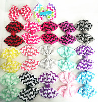 Wholesale Children s Hair Accessories Baby Girls Hairband Zigzag Hairpin Clip Bobby Barrette Girls Hair Clips Kids Sweet Zig Zag Bow Alligator Clips