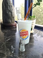 big burgers - Best sale factory price mm big size BURGER KING Cup oil rig glass bong in stock with glass accessories for smoking