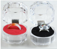 acrylic display gift cases - Transparent Acrylic Displays Rings Organizer Gift Package Carrying Case New Arrival Wedding Jewelry Box for Lady Women
