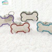 Wholesale High Quality Colorful Bone Shape Drip Metal Pet Dog Pendant Tag Disk Pet Accessories Pendant Black
