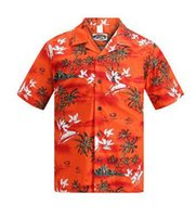 aloha shirts - Brand New Hawaiian Shirt Men Summer Short Sleeved Palm Tree Printed Hawaii Shirts US Size Beach Aloha Shirts Hotel Uniform
