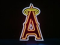 angeles bar - Mlb Los Angeles Angels of Anaheim Baseball Real Glass Neon Light Sign Home Beer Bar Pub Recreation Room Game Room Windows Garage Wall Sign