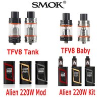 18650 baby clouds - Authentic Smok TFV8 TFV8 Baby atomizer TFV8 Cloud Beast Tank Original SmokTech Alien W Starter Kit Alien W TC Box Mod Genuine