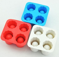 Wholesale 100pcs Cup Ice Cube Shot Shape Silicion Shooters Glass Freeze Molds Maker Tray Party