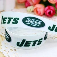 sports ribbon - 7 quot mm Sports New York Famous Football Team Printed High Quality Grosgrain Ribbons Girl Hair Bow DIY Decos A2