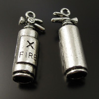 14k findings - 10PCS Antique Silver Fire Extinguisher Alloy Pendant Charms Jewelry Finding mm AU37134 jewelry making