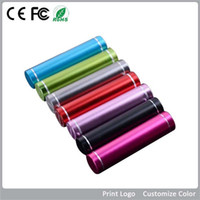 Wholesale Fashionable aluminum Lipstick mAh Power Bank Portable Backup External Battery USB Mobile charger Mobile Power Supply