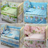 Wholesale 2016 Real Baby Cot Baby Bedding Set Kitty Character Crib Cotton Bedclothes Include Pillow Bumpers Mattress cm