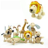 Wholesale 2016 Brand NEW Maple animal Australia Anamalz organic maple wooden animal dolls farm educational toys wildlife