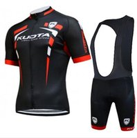 Wholesale Kuota Team Cycling Jersey Professional Racing Wear Black Red Cycling Shirts Bib None Bib Shorts with D Padded New Size XS XL