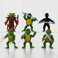 ninja turtles - TMNT Teenage Mutant Ninja Turtles set action Figures PVC Dolls toys birthday gift