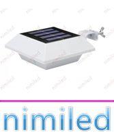 nimi1042 4 LED IP44 de polisilicio de la cerca de la energía solar luces del panel exterior de jardín del patio de luz super brillante LED de la pared del hogar de iluminación de techo de la lámpara del fregadero