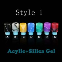 Wholesale E cigarette Drip Tips With Glass Material With e cig NO O RING Wide Bore Atomizer Mouthpieces