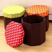 Wholesale Octagonal storage stool Oxford cloth folding multifunctional storage stool Home Storage Organization